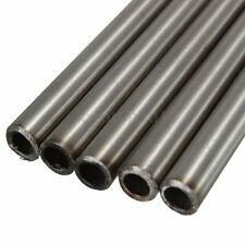 304 Silver Stainless Steel Capillary Tube Bar Stick OD 8mm x 6mm ID 250mm Length