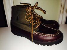 Ralph Lauren Brown Leather Boots Lorenzo Boys Youth Men's Size 5