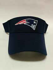 New England Patriots Heat Applied Applique on Navy visor cap hat! Adjustable!