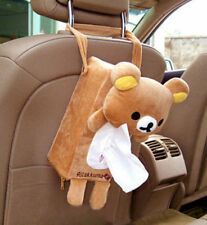 FD4303 Soft Plush Relax Bear Rilakkuma Hanging Tissue Box Cover Car Home Decor^