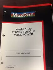 MacDon Model 5020 Power Tongue Windrower PARTS CATALOG