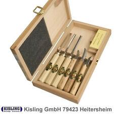 Kerbschnitzbeitel Satz Kirschen # 3437 HK - 7 tlg. im Holzkasten - Schnitzmesser