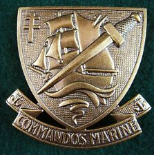 ORIGINAL ELITE FRENCH COMMANDOS MARINE BERET BADGE SPECIAL FORCES        (0)