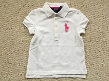 NWT $39 Ralph Lauren Girl's White BIG PONY Short-Sleeve Polo Top - Sz. 5