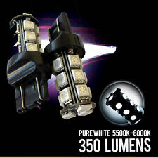 2x 7443 7440 7444 High Power SMD 18-LED 6000K White Reverse Backup Light Bulbs