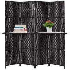 LH 6 Panel Room Divider Furniture Classic Venetian Wooden Slat Home