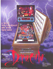 Williams BRAM STOKER'S DRACULA Original 1993 NOS Pinball Machine Promo Flyer Adv