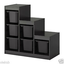 IKEA Trofast Storage Combination Boxes Organizing Toys Black 990.063.81