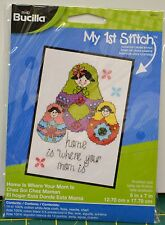 "Bucilla My 1st Stitch Cross Stitch Kit 5""x7"" ""Home Is Where Your Mom Is"""