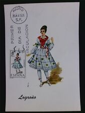 SPAIN MK 1969 COSTUMES LOGRONO TRACHTEN MAXIMUMKARTE MAXIMUM CARD MC CM c6030