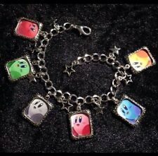 Silver Plated Charm Bracelet With Charms Kirby Nintendo Rainbow