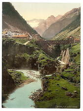 Goschenen St Gotthard Railway A4 Photo Print