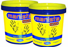 2x Comma Manista Yellow Natural Hand Cleanser with Polychips Heavy Duty 700ml