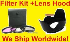 FILTER KIT+LENS HOOD 67mm fit SONY DSC-R1 CPL FLD UV C-PL F-LD
