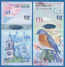 Bermuda 2 Dollars P 57 a 2009 UNC Low Shipping! Combine FREE! (P-57a)