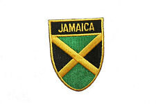 JAMAICA COUNTRY FLAG OVAL SHIELD FLAG EMBROIDERED IRON-ON PATCH CREST BADGE