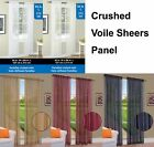 "Solid Crushed Voile Sheers Window Curtain Valance Panel 5 Colors 3 Sizes 50""W"