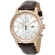 Tommy Hilfiger Men's Rose Gold-Tone and Leather Casual Watch, Brown 1791246)