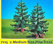 Playmobil 7115 - Two Medium Pine Trees - mint in bag - original store stock!