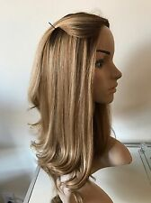 WIG TOPPER Silk Top KIPPAH FALL Dark Blonde Rooted Multi Directional HUMAN HAIR