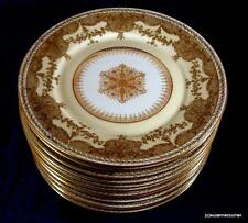 Antique Guerin Limoges Gold Encrusted Set of TWELVE Service / Cabinet Plate