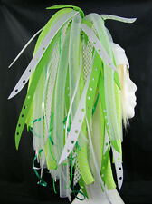 CYBERLOXSHOP GREENBLEACH CYBERLOX CYBER HAIR FALLS DREADS GOTH RAVE GREEN WHITE