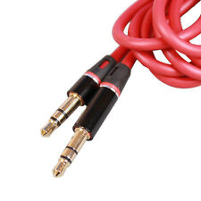 "RED 3.5mm 1/8""Audio Cable Car AUX Cord for V-Moda Crossfade M-80 M-100 Headphone"