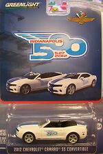 GREENLIGHT 1:64 DIECAST METAL WHITE 2012 CAMARO CONVERTIBLE INDY 500 PACE CAR