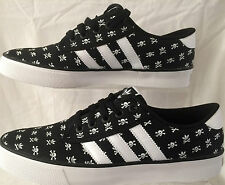 Mens ADIDAS Xbones KIEL Black Canvas Trainers UK Size 8.5 BN & Boxed (1589)