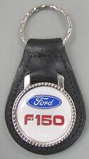 White Ford Oval F-150 Truck Black Leather USA Keyring 1979 1980 1981 1982