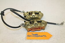 12-15 SUZUKI GSXR 1000 GSX-R LEFT RIGHT FRONT BRAKE BREMBO CALIPERS SET GOLD GSX