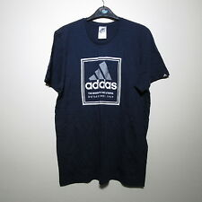 Adidas Blue Classic Logo Tshirt/Cycling/Training/Gym/Runing/Clothing/Sports