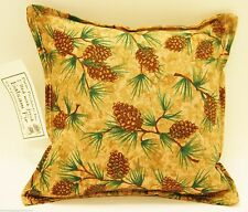 """BALSAM FIR PILLOW 5""""x 5"""" PINE CONE BRANCHES pine tree sachet scented lodge cones"""
