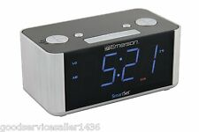 Emerson CKS1708 Smart Set Radio Alarm Clock AM/FM Digital LED Display tuning