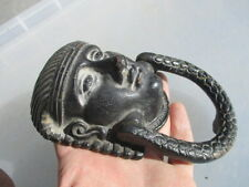 Cast Iron Door Knocker Antique Victorian Egyption Revival Style Pharaoh Design