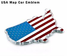USA Metal Decals Car Sticker 3D  Emblem US MAP USA National Flag for decor 3M 1P