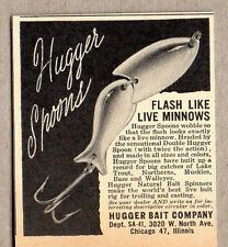 1950 Vintage Ad Hugger Spoons Fishing Lures Hugger Bait Co Chicago,IL