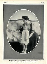 Großherzogin Alexandra von Mecklenburg-Schwerin mit ihren Söhnen Friedrich..1913