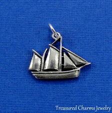 Silver SAILBOAT Sail Boat Nautical Ocean CHARM PENDANT