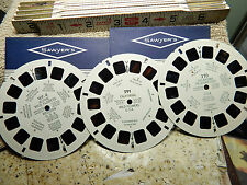 NON MATCHING-Mixed Lot 3-Disc Sawyers View-Master Color Stereo Vintage Pictures