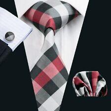 C-938 Hot New Mens Silk Ties Wedding Party Neckties Tie+Hanky+Cufflinks Sets