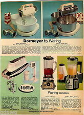1969 ADVERTISEMENT Mixer Blender Kitchen Aid Waring Iona Dormeyer Stand Buffer