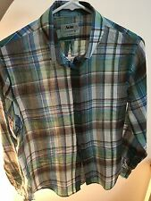 Acne Woman Classic Plaid Blouse Shirt 34