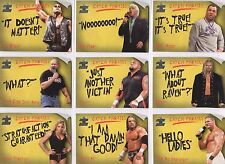 RARE! Complete 15 Card Insert Set: CATCH PHRASES wwe Fleer 2002