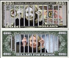 Hillary for Prison - Federal Hillary Penitentiary Novelty Money