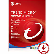 Trend Micro Titanium Maximum Security 10- 2017/2016 1 Year 3 Devices License key