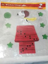 PEANUTS SNOOPY AS RED BARON CHRISTMAS WINDOW CLING NEW IN PACKAGE CHARLIE BROWN