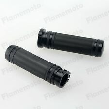 "Black CNC 1"" Knurled Handlebar Hand Grips For Harley V-Rod Touring Softail XL"
