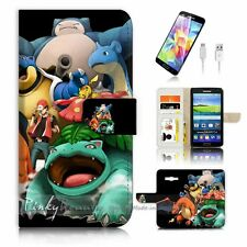 Samsung Galaxy J5 Flip Wallet Case Cover! P0253 Pokemon