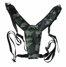 Trekking Safari Classic Camo Camera Harness for DSLR & Binoculars. High Comfort